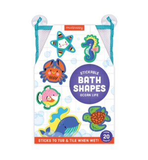 Bath Shapes Ocean Life Stickable Foam