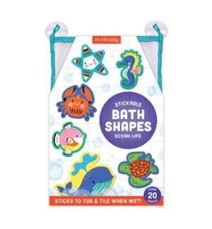 Bath Shapes Ocean Life Stickable Foam
