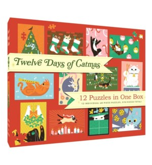 12 Puzzles in One Box: Twelve Days of Catmas