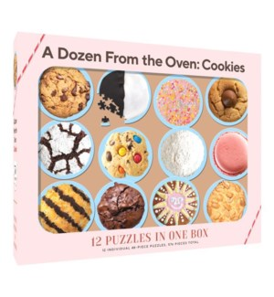 12 Puzzles in One Box: A Dozen from the Oven: Cookies