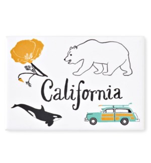 California Magnet, 2x 3 Rectangle