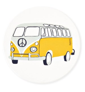California Absorbent Stone Coaster, Campervan