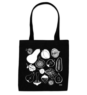 Black & White Fruit & Veg Everyday Tote