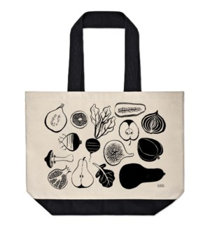 Black & White Fruit & Veg Market Tote