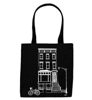 Black & White Brownstone Everyday Tote