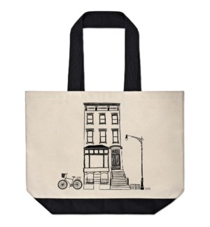 Black & White Brownstone Market Tote