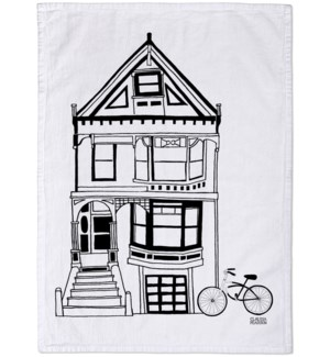 Black & White Victorian Tea Towel