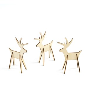 Alpine Reindeer-Set/8-Natural