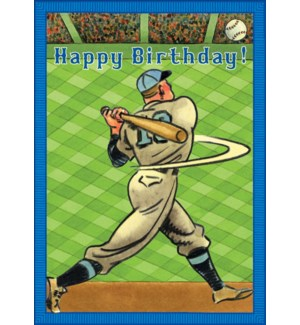 Baseball Home Run Birthday Card