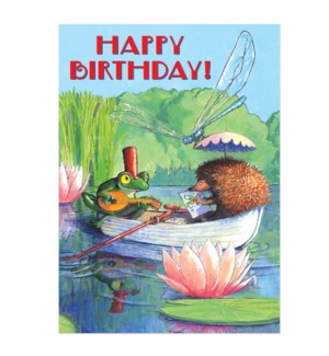 Boat Ride Birthday Card