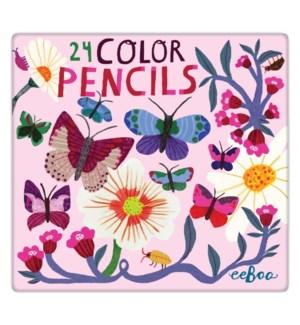 Butterflies & Flowers 24 Pncls