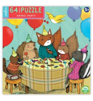 Animal Party 64 Pc Puzzle