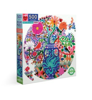 Birds and Flowers (octop) 500 Pc Rd Puz