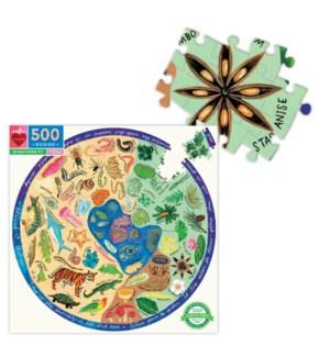 Biodiversity 500 Pc Round Puzzle