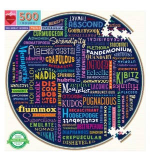 100 Great Words 500 pc Rd Puzzle