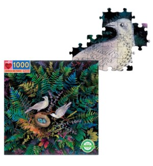 Birds in Fern 1000 Pc Sq Puzzle