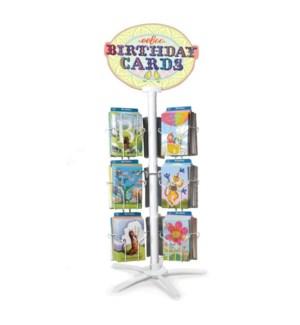12 Birthday Card Spinner Rack w/Cards