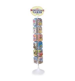 24 Birthday Card Spinner Rack w/Cards