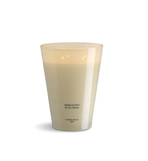 4 wick XXL Candle 3,5 kg/7.7 lb Bergamotto di Calabria Ivory