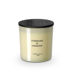 2 wick XL Candle 600 gm/21 oz Tuberose & Jasmine Ivory