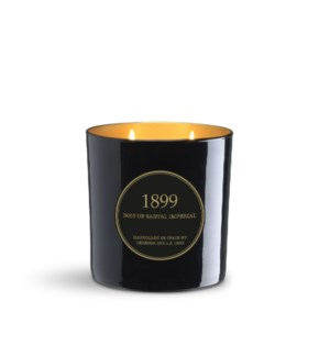 2 wick XL Candle 600 gm/21 oz Bois de Santal Imperial Black & Gold