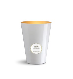 4 wick XXL Candle 3,5 kg/7.7 lb  Tobacco & Amber White & Gold