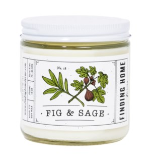 Fig & Sage 13 oz Soy Candle
