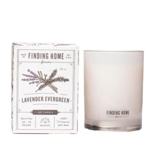 Lavender Evergreen 10 oz Soy Candle