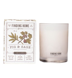 Fig & Sage 10 oz Soy Candle