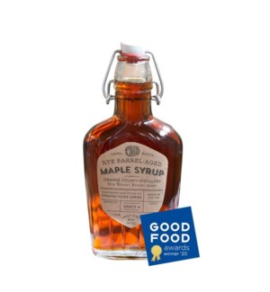 8 oz Rye Barrel Aged Maple Syrup Tester