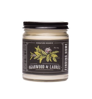 Agarwood & Laurel 7.5 oz Soy Candle