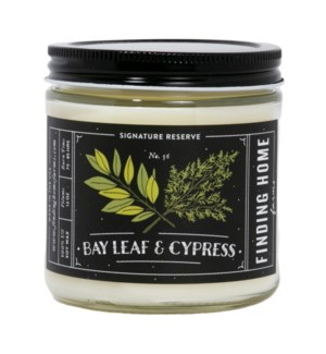 Bay Leaf & Cypress 13 oz Soy Candle