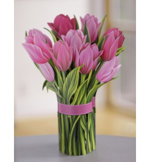 Pink Tulips (36 Flowers with Envelope)