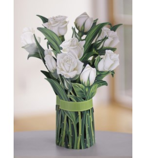 White Roses (36 Flowers with Envelope)