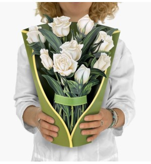 White Roses (8 Flowers with envelope @$4.75 plus 1 display sample)