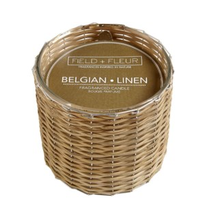 BELGIAN LINEN 2 WICK HANDWOVEN CANDLE TESTER FREE W/3 CTNS OR MORE CTN. 1