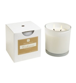 CASHMERE 2 WICK CANDLE IN WHITE GLASS 12oz. CTN.6