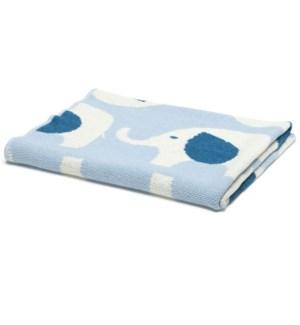Eco Baby Elephant Throw Blue