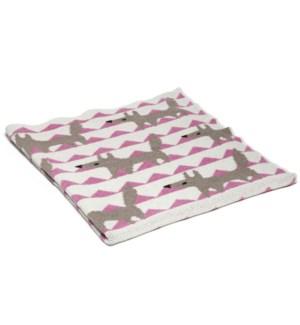 Eco Baby Fox Throw Pink