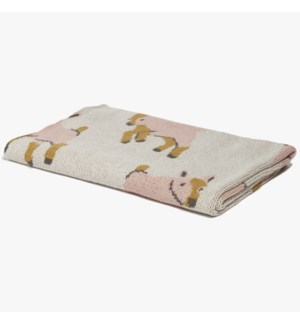 Eco Baby Goat Throw Pink