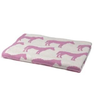 Eco Baby Reversible Pony Throw Pink