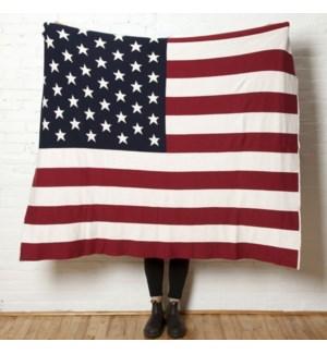 Eco American Flag Throw
