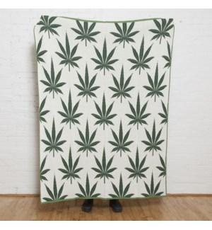 Cannabis Leaf Throw