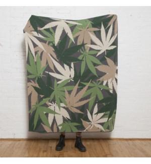 Cannabis Overlapping Leaf Throw