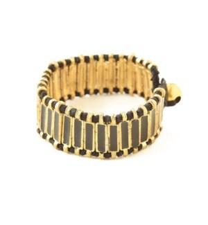 "black enamel bracelet 7"""