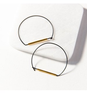 black and brass large wire hoop 2.25 in.