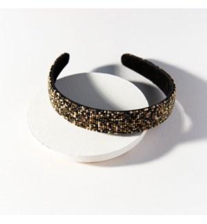 black confetti headband
