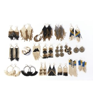 black & white seed bead starter pack with 5% discount & free display