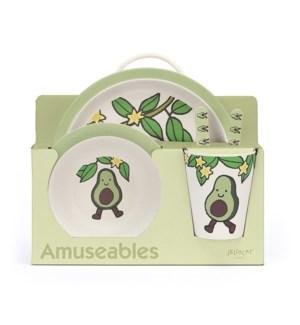 Amuseables Avocado Bamboo Set