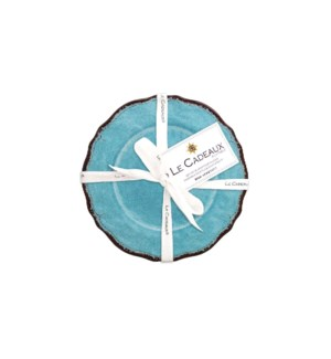 APPETIZER PLATE (SET OF 4) ANTIQUA TURQUOISE